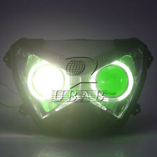 Green Angel Eye Demon Headlight Assembly HID For Kawasaki Z800 Z250 13-2015 Z300