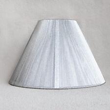 Lampenschirm Seide Sorpetaler Leuchten Stoff Schirm Lampe silber rund Ø20cm NEU