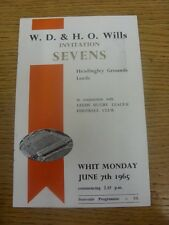 07/06/1965 Rugby Union Programme: 7-A-Side Leeds Invitation Tournament [At Headi