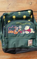 Back Pack for School Hiking Winnie the Pooh & Tiger Green Sturdy