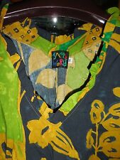 Jams World RARE $85 FAB XL Tank  Top Hawaiian NEW NWT Pineapple Patch  Ruffles