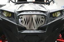 Custom Stainless Steel Grille Insert Grill Polaris RZR800 + RZR900 LIZARD TEETH