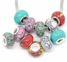 Ten (10) Assorted Colors Glass Lampwork Murano Glass Beads and Many Others