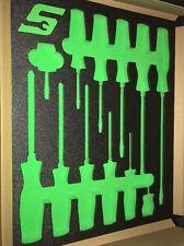 Snap On Verde Schiuma Cacciavite cassetto cassetti per per cassetta degli attrezzi SUL PETTO NUOVA