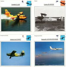 Lot of 4 Edito Aviation Cards; CL-215, JN-4, An-2 & KC-135 (See Description)