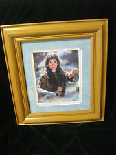 """Indian Native Art American Signed Print - MAIJA  12"""" X 13-1/2"""" Framed & Matted"""