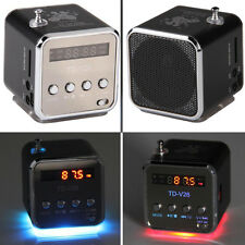 Portable Micro SD TF USB Mini Stereo Speaker Music Player FM Radio PC MP3 /4 XG
