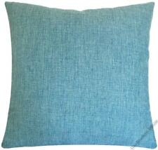 Aqua Blue Cosmo Linen Decorative Throw Pillow Cover/Cushion Cover 20x20""