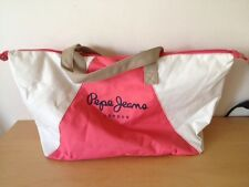 Used - Bag PEPE JEANS Bolsa - 56 x 28 cm - Pink and White color Rosa y Blanco