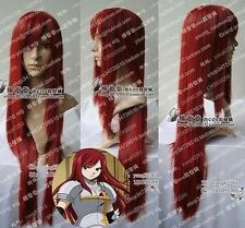 "FAIRY TAIL ERZA Dark Red cosplay long wig 100CM /40"" H62"