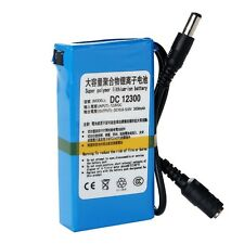Portable Super Power DC 12V Rechargeable 3000mAh Li-ion Battery Pack Blue New