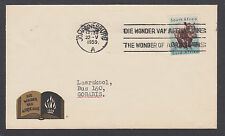 South Africa Sc 204 3p Hippopotemus on 1959 THE WONDER OF AFRIKAANS cover