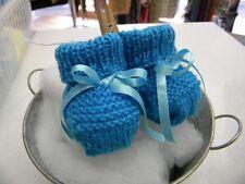 abc broons chausson bébé bleu modele unique neuf layette tricot m11