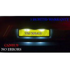 Vauxhall Corsa C D VXR 05-11 Number Plate LED Light Bulbs - Xenon White