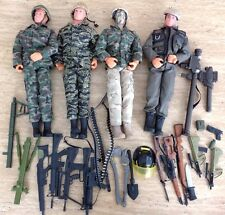"Power Team World Peacekeepers Military 12"" Action Figure Dolls Guns Lot Army Toy"