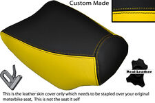 BLACK & YELLOW CUSTOM FITS ITALJET DRAGSTER 125 FRONT RIDER LEATHER SEAT COVER