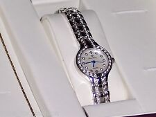Lucien Piccard Women's Catelli White Crystal Palladium Nickel Plated Watch
