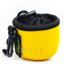 Yellow Neoprene Soft Camera Lens Protect Case Bag Cover Pouch for Sony DSC-QX10