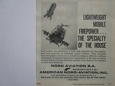 1/1968 PUB AMERICAN NORD AVIATION MISSILE AS.12 SS.11 HELICOPTER ORIGINAL  AD