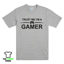 TRUST ME I'M A GAMER FUNNY PRINTED MENS T SHIRT PS4 XBOX COMPUTER GEEK TEE TOP