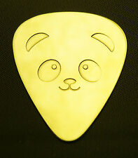PANDA - Solid Brass Guitar Pick, Acoustic, Electric, Bass