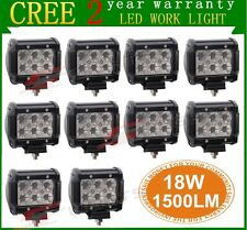 "10X18W CREE 4"" LED Work Light Bar Flood Beam Off road Driving Fog Lamp Truck ATV"