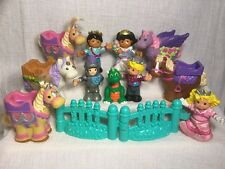 Fisher Price Little People Castle Lot Fantasy Prince Princess Horse Figures C45