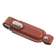 16GB Brown Leather Buckle USB Thumb Pen Flash Drive Memory Stick