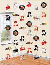 CLASSIC 50'S 60'S ROCK AND ROLL PARTY STRINGS HANGING STRING DECORATIONS