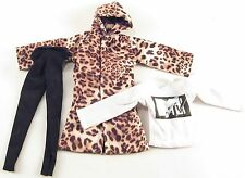 1/6 Magic Cube Leopard Skin Coat Yoga Pants MTV Sweatshirt Street Wear Clothing