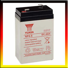 2 X YUASA NP4-6, 6V 4Ah (as 4.5Ah & 5Ah) BIG LAKE BAIT BOAT BATTERIES