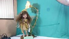 """Very  Beauty Duck House Porcelain Doll Lamp 32""""  tall  Limit  309/5000"""