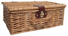 """Natural Wicker Traditional Christmas Gift Hamper Basket with Lid - SMALL (12"""")"""