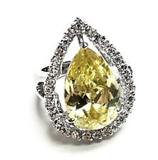 Melania Trump Jewelry Pear Cut Simulated Yellow Diamond Ring QVC size 6
