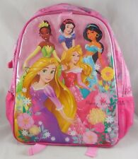 Disney Store Princess Backpack School Book Bag Day Pack With Tiana Rapunzel Snow