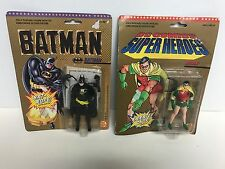 BATMAN & ROBIN Vintage 1989 ToyBiz DC Superheroes Action Figure Set