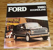 Original 1980 Ford Econoline Sales Brochure 80 Van