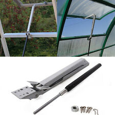 Greenhouse Vent Window Roof Opener Set Solar Heat Sensor Automatic Open & Close