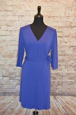 Modcloth Lighthearted Lecture Dress Cobalt NWOT Sz L sapphire Wrap around