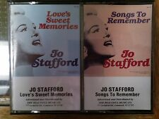 Jo Stafford Cassette x 2 Songs To Remember Love's Sweet Memories 1986 compilatio