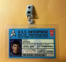 Star Trek Id Badge-UFP Lt. Commander  Spock prop costume cosplay