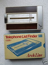 Registro de teléfono, madera óptica, Carl 560 Arch Line, telephone list Finder #179