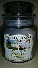 Yankee Candle RARE swirl candle clean cotton fresh comfort deerfield label VHTF