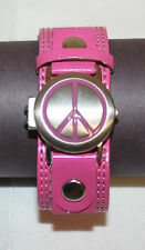 Girls Accutime Watch Corp Peace Symbol Wrist Watch