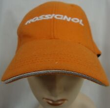 ROSSIGNOL ORANGE BASEBALL CAP HAT CUSTOM MADE ONE SIZE FITS ALL EUC
