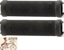 ODI RUFFIAN LOCK-ON BLACK BMX-MTB BICYCLE GRIPS--LOCK JAWS NOT INCLUDED