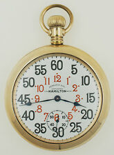 Rare Hamilton 16s 21J Grade 992 GF OF Ferguson Dial Railroad Pocket Watch