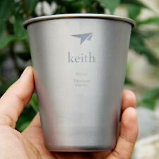 Keith Titanium 350ml Water Beverage Cup Beer Mug Outdoor Camping Picnic Cookware