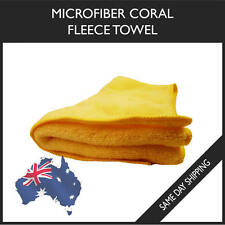 Microfiber Towel Coral Fleece Sport Travel Swimming Cleaning Microfibre - Yellow