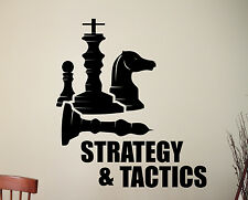 Chess Pieces Wall Decal Strategy Tactic Game Vinyl Sticker Sports Art Decor 1chz